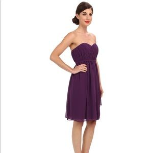 DONNA MORGAN Bridesmaid Purple Chiffon Dress, 0